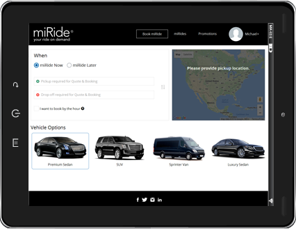 miRide Application